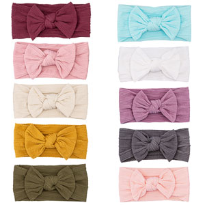 Adorable 5-pack knotted headbands for baby girl
