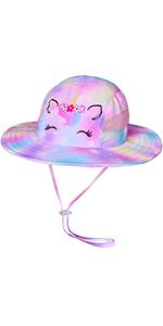 Unicorn Sun Hat for Girls