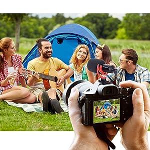Smartphone Video Kit ,Shotgun Video Microphone,On-Camera Mini Condenser Record,Interview Vlog Mic,