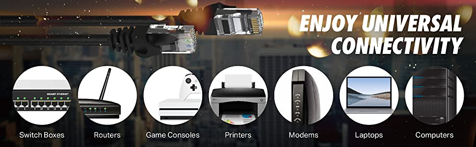 universal connectivity switch boxes routers game consoles modems laptops computers printers