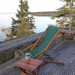 glider chair green forest wood wooden kureig pangean set backyard patio table byer of maine
