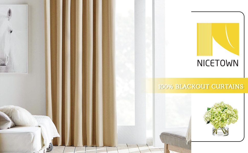 140 x 175 CM Cortinas Ligera con Ollados para Sal/ón Dortimotorio Matrimonio Comedor 2 Piezas Amarillo-Morado NICETOWN Cortinas Decorativa Casa