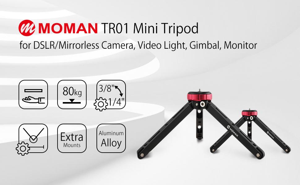 Moman Tripode de Mesa para Camara Reflex, Mini Tripode dslr con ...