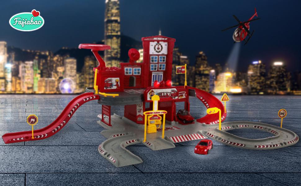 fire parking car toys