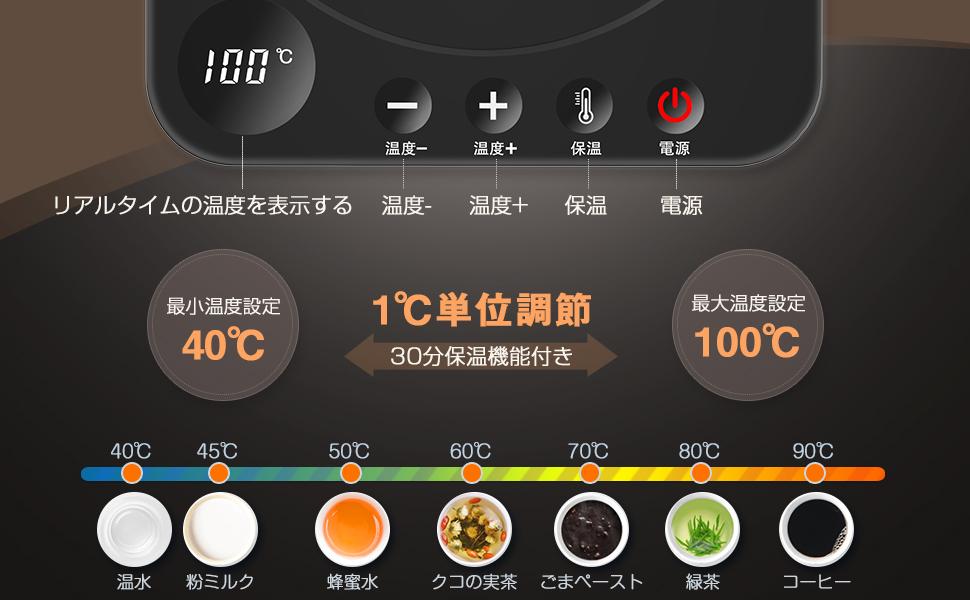 湯沸かし 温度調節