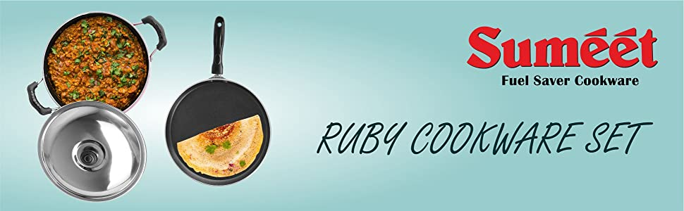 SUMEET RUBY COOKWARE SET