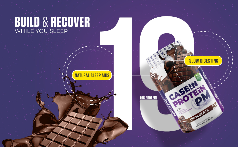 About Time Casein Protein PM - Build & Recover While You Sleep