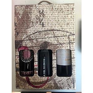 Estuche con vinos gourmet de Extremadura Palacio Quemado crianza, Habla del Silencio tinto crianza y Carabal Cávea crianza para regalo: Amazon.es: Alimentación y bebidas