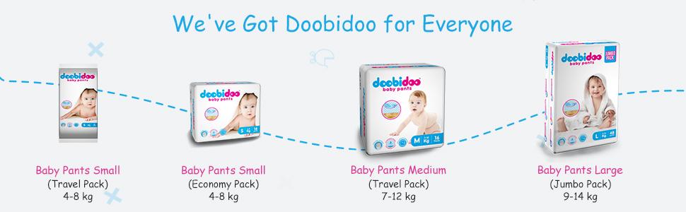 Doobidoo baby pants, baby diapers
