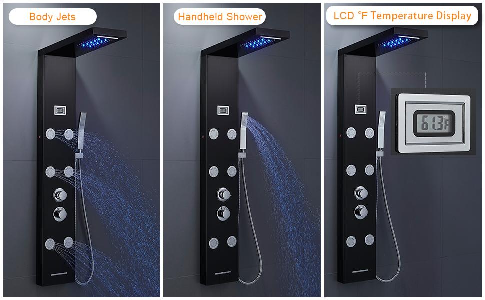 led shower column