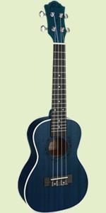 Tenor Ukulele Ranch 26 inch ukelele Instrument Online Lessons Gig Bag Hawaiian Guitar Blue