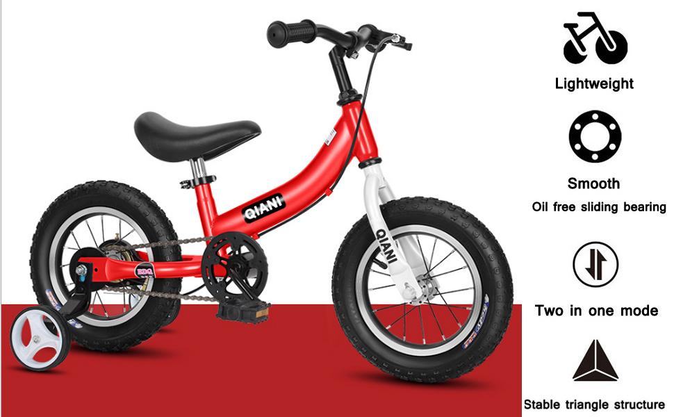 Kids bike and balance bike 2 in 1