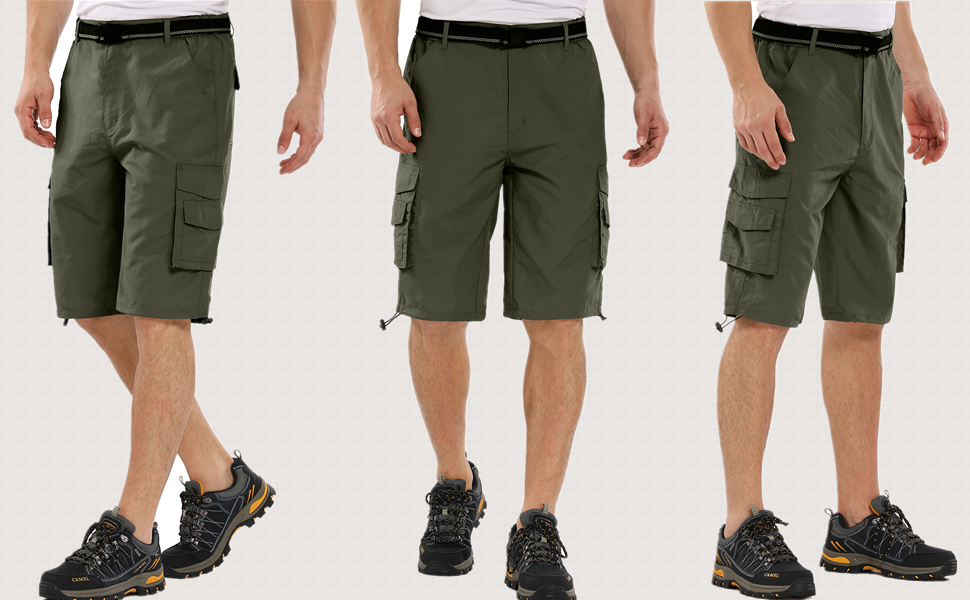 Jessie Kidden Mens Outdoor Casual Expandable Waist Lightweight Water Resistant Quick Dry Cargo Fishing Hiking Shorts