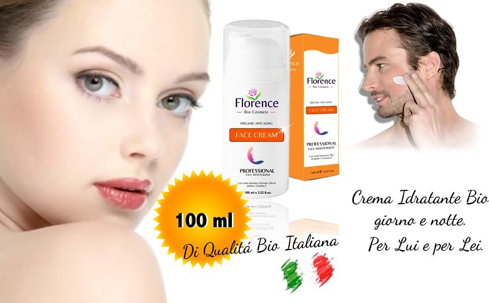 Florence crema idratante bio al retinolon e acido ialuronico