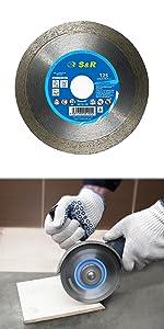 S&R S+R SR diamantslijpschijf slijpschijf diamantschijf tegels porselein 125 mm