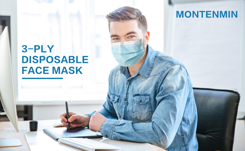 3-ply face mouth cover mask