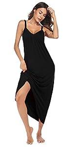 Sleeveless Long Nightgown