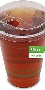 50 Qty Clear Cup Sip Lids