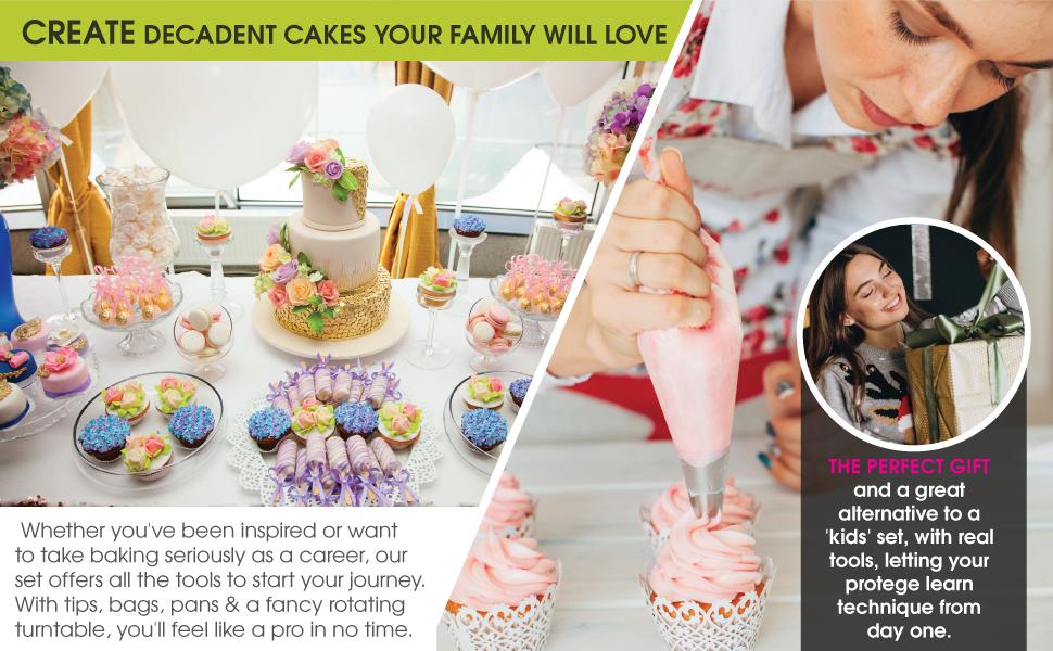 decorating bags for frosting piping tips set cupcake piping set cake baking supplies cupcake decora