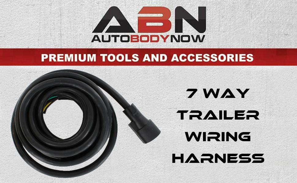 Amazon Com  Abn 7 Way Trailer Plug  U2013 25ft Inline Trailer