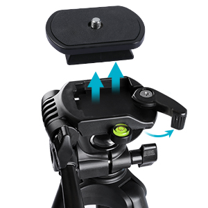 camera tripod with quick plate