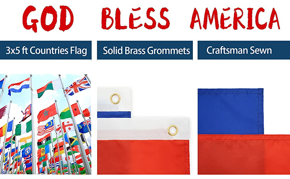 god bless american countries flags