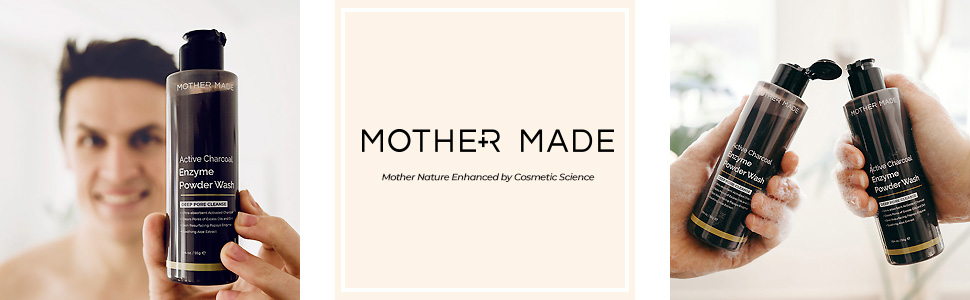 mother made active charcoal enzyme powder wash facial cleanser