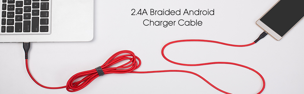2.4A braided android charger cable