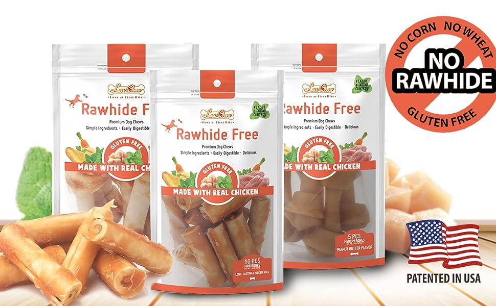 dog bones,rawhide free,dog chews,long lasting,rawhide for dogs,chicken dog bones,chicken chew