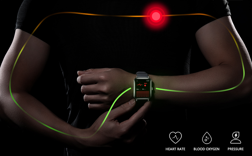 accurately real-time monitor heart rate, pressure, blood oxygen