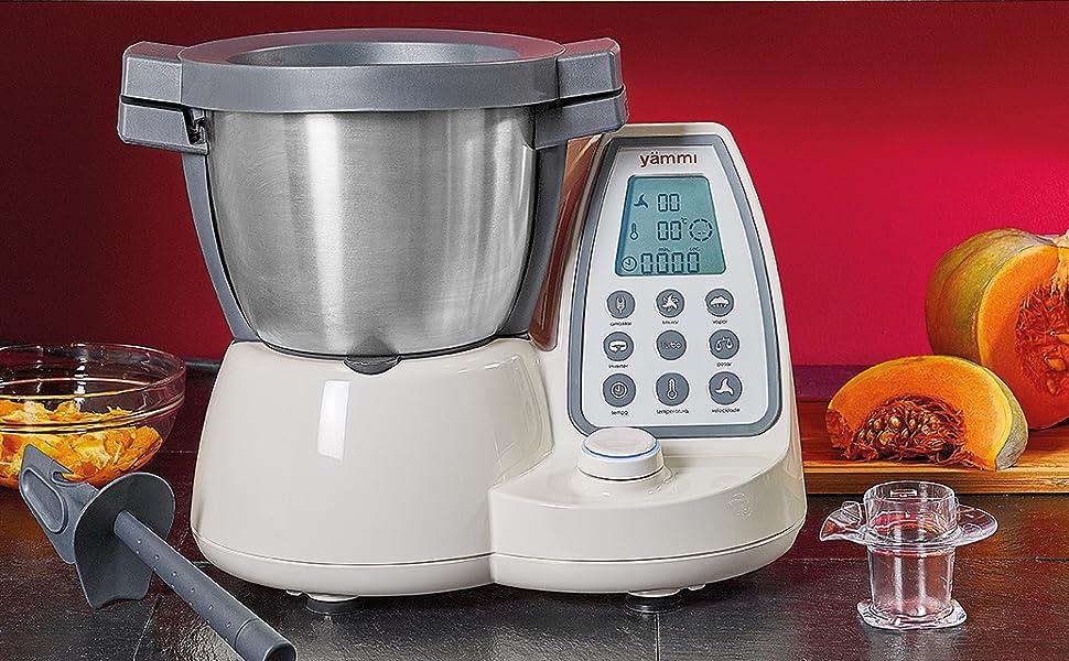 Yämmi Robot de Cocina Multifuncional en Italiano, Capacidad Bruta 4.8 l, 11 Funciones, Incluye 8 Accesorios, Potencia de 1500 W, Motor 500 W, Libro de Recetas en Italiano: Amazon.es: Hogar