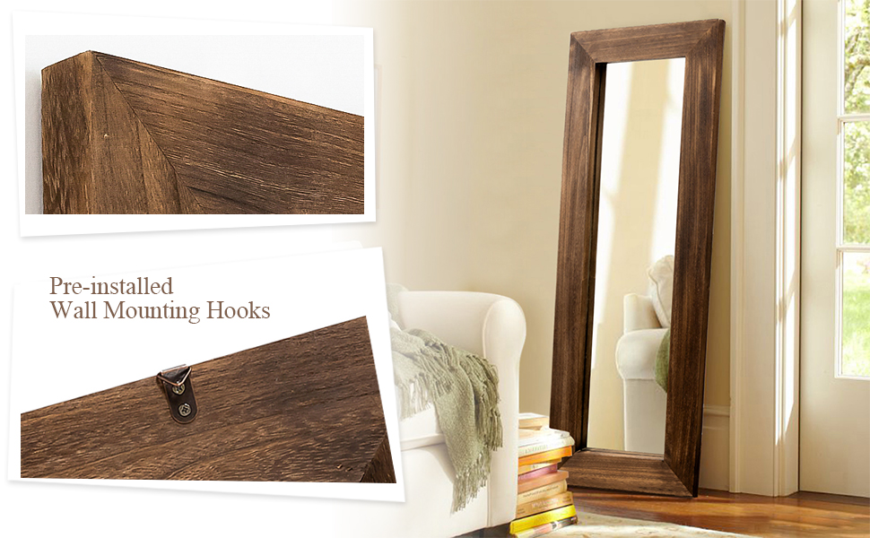 Body Dressing Mirror for Living Room, Bedroom, Leaning Against Wall/Wall-Mounted Mirror