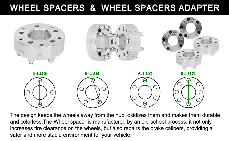 SCITOO 2Pcs 1.5 inch 38mm Wheel spacers 6x135mm 6lugs 14x2 Studs Compatible with Lincoln Mark LT 2006-2014 Ford F-150