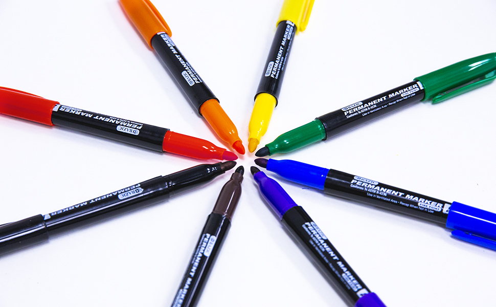 BAZIC Bright Color Fine Line Permanent Markers Pens Marcador