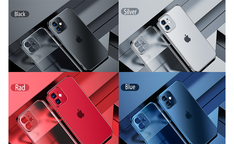 Crystal Clear Compatible with iPhone 12 Case,Designed for iPhone 12 Pro Case 6.1 Inch, Crystal Clear
