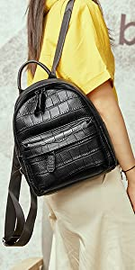 Womens Leather Backpack Casual Garden Daypack for Ladies