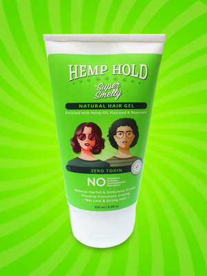 Hemp Hold Hair Gel   With Hemp Oil