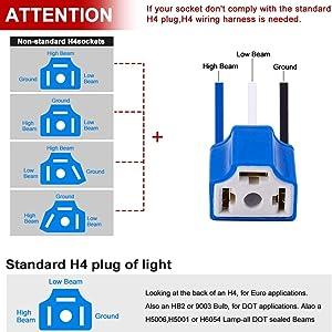 H4 connector socket