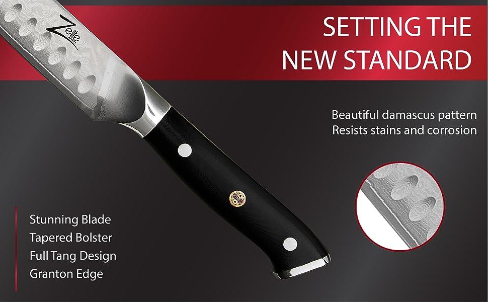 meat carving knife meat slicer japanese damascus razor sharp classic knife set