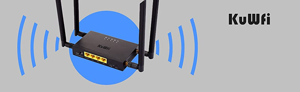 KuWFi 4g lte router with sim card slot