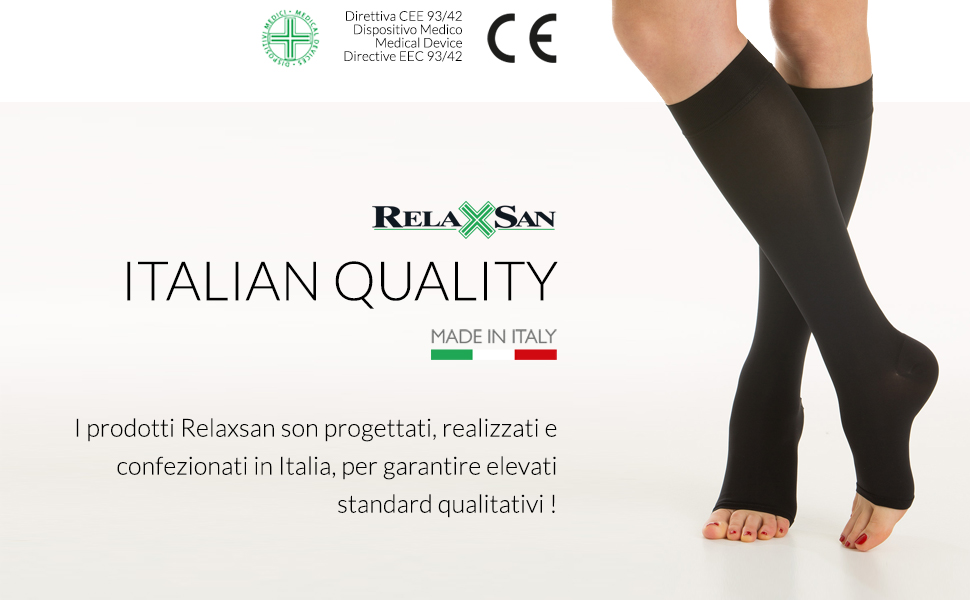 relaxsan medicale soft compressione graduata made in italy qualità italiana