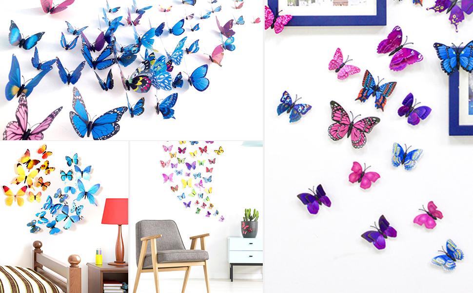 3D butterflies Murals