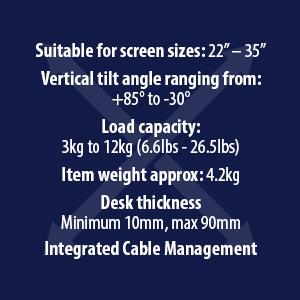 Invision MX450 Monitor Mount Arm Spec 1