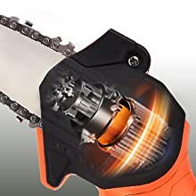 GOXAWEE tree branch limb log battery powered rechargeable handheld wood cutting chainsaw