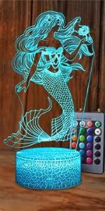 Mermaid LED Night Light