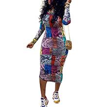 colorful bodycon dress