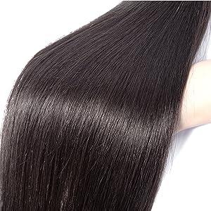 straight hair bundles with closure 100% human hair bundles with closure brazilian hair 3 bundles