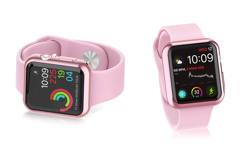 2-Pack] Julk Case for Apple Watch Series 4 Screen Protector
