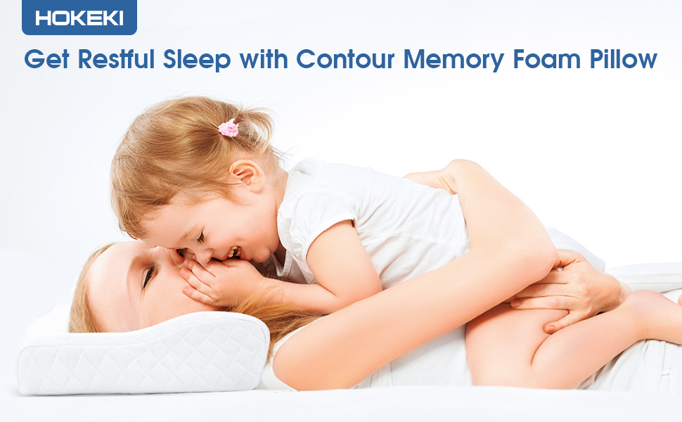 Get Restful Sleep with Contour Memory Foam Pillow