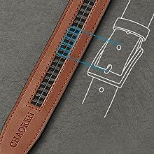ratchet dress belt/slide ratchet belt/leather ratchet belt/brown ratchet belt/xhtang/dante/zip belt